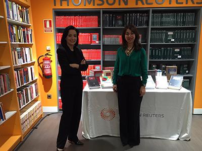Yolanda Corchado y Cruz Sánchez de Lara, socias de Exaequo, acudieron a la celebración del 25º aniversario de la Librería Civitas de Madrid, lugar emblemático para las profesiones jurídicas.